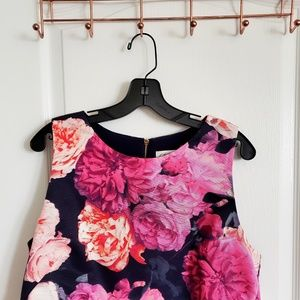 Multicolored floral occasion top